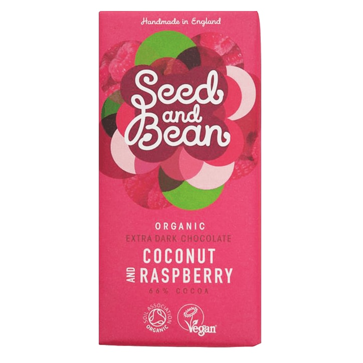 Seed And Bean 66% Dark Coconut Raspberry Bio