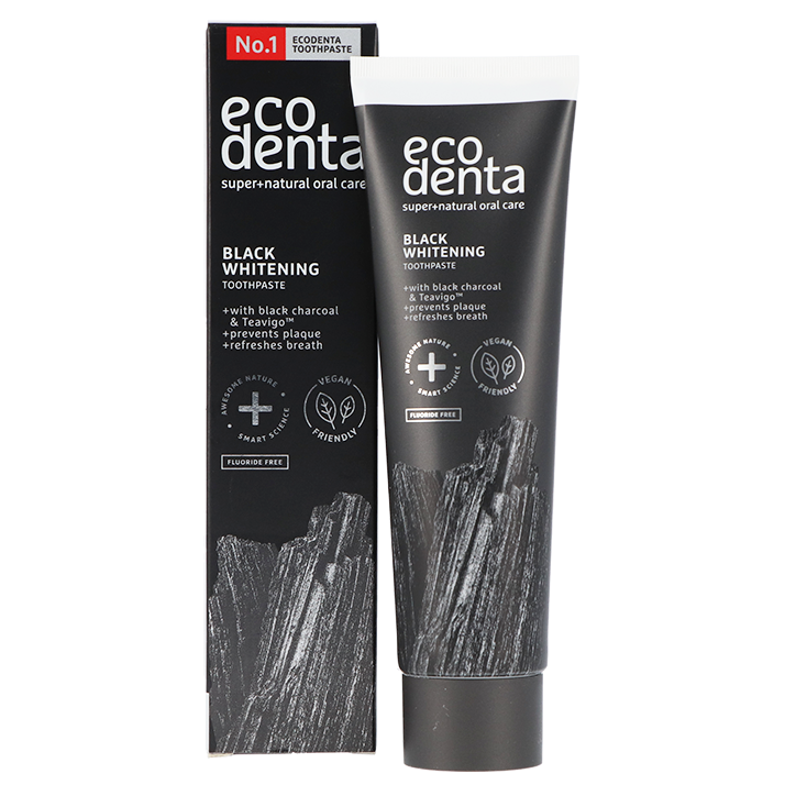 Ecodenta Tandpasta Whitening Met Black Charcoal