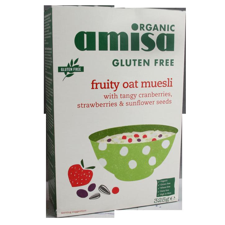 Amisa Bio Fruity Oat Muesli Glutenvrij