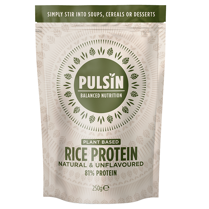 Pulsin Raw & Sprouted Rice Protein Powder Unflavoured 250g - 250g