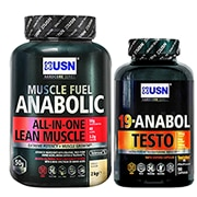 USN Muscle Fuel Anabolic Strawberry + USN 19 Anabol Testo 90 Capsules