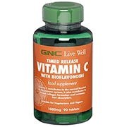 GNC Timed Release Vitamin C with Bioflavonoids 1000mg 180 Tablets