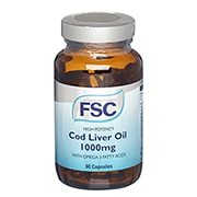FSC High Potency Cod Liver Oil 1000mg 60 Capsules