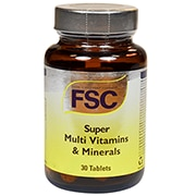 FSC High Potency Sustained Release Super Multi Vits & Mineral 30 Tablets