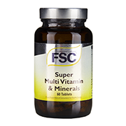 FSC High Potency Sustained Release Super Multi Vits & Mineral 60 Tablets