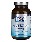 FSC High Potency Cod Liver Oil Capsules 1000mg Capsules