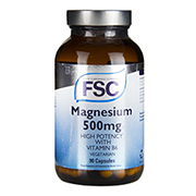 FSC High Potency Magnesium 500 with Vitamin B6 90 Vegi Capsules