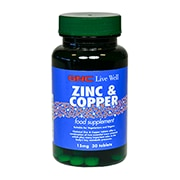GNC Zinc 15mg with Copper Tablets