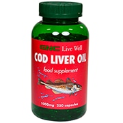 GNC Cod Liver Oil 1000mg 250 Capsules