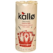 Kallo Organic Unsalted Rice Cakes