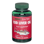 GNC Cod Liver Oil 1000mg 60 Capsules