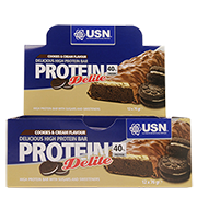 USN Protein Delite Cookies and Cream 12 x 76g