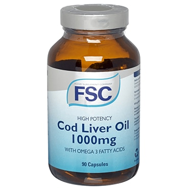 Fsc High Potency Cod Liver Oil Capsules 1000mg 90 Capsules