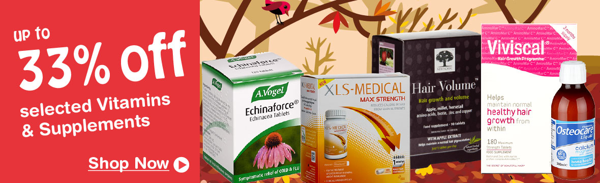33% Off Selected Vitamins & Supplements
