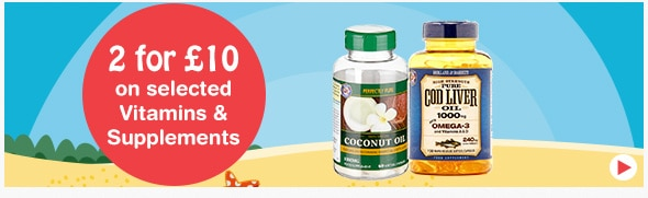 2 for £10 on selected Vitamins