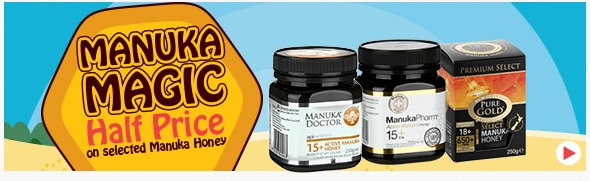 50% off selected Manuka Honey