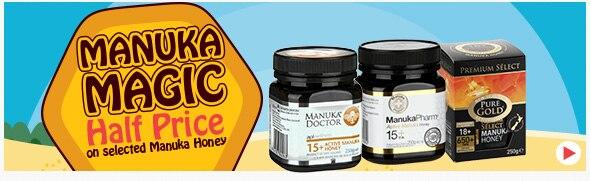 50% off selected Manuka Honey