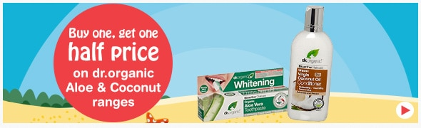 Buy one get one half price on selected dr Organic