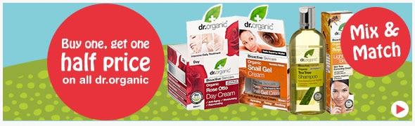 Buy one get one half price on all dr.organic