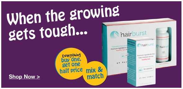 Buy one get one half price on all Hairburst