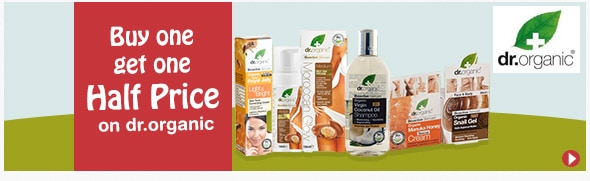Buy one get one half price on dr.organic