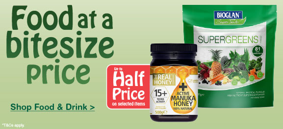 Up to half price on selected Food