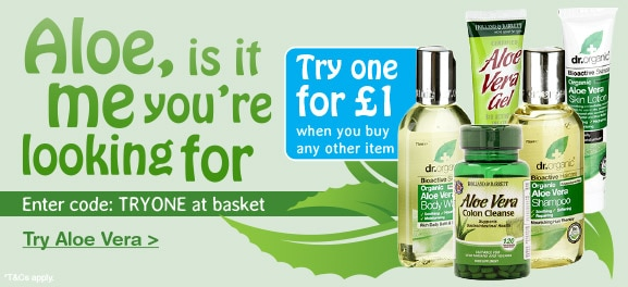 Buy one try one for £1 Aloe vera