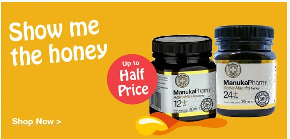 Up to half price on selected Manuka Honey