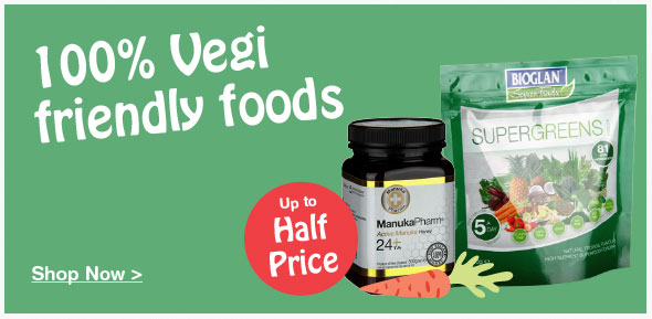 Up to half price on selected food & drink