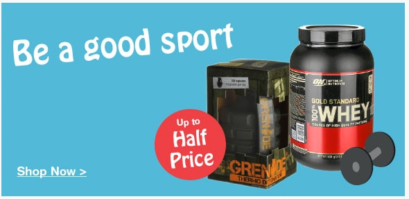 Up to half price on selected Sports Nutrition