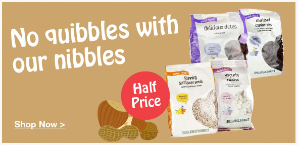 Half price on selected Snacks