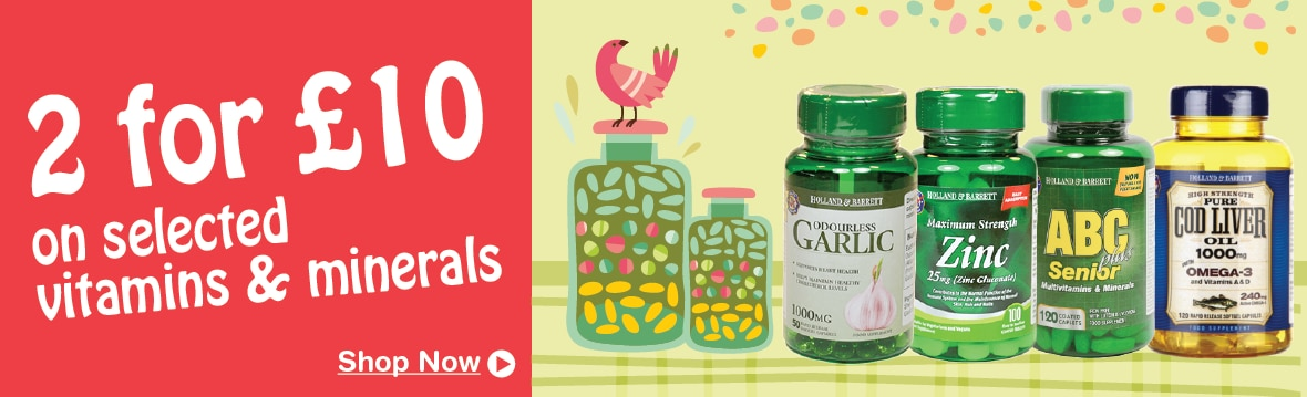 Vitamins & Minerals 2 For £10