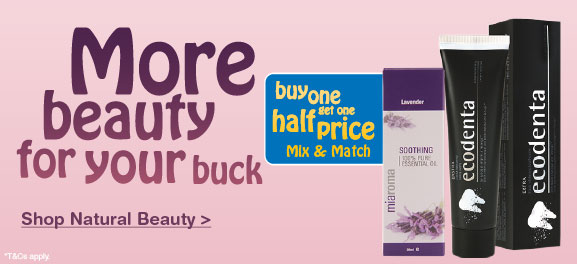 Natural Beauty Buy One Get One Half Price