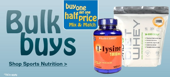 Sports Nutrition Buy One Get One Half Price