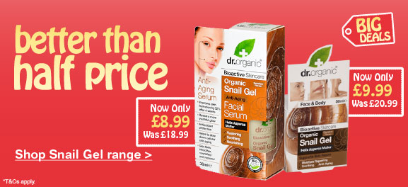 Better than half price snail gel