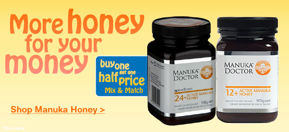 Manuka Honey Buy One Get One Half Price