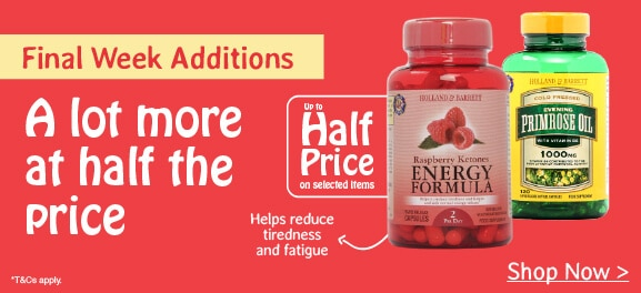 Half Price Vitamins & Supplements