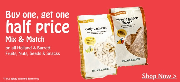 Buy one get one half price fruits nuts seeds & snacks