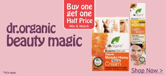 buy one get one half price dr.organic
