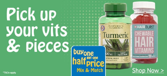 Buy One Get One Half Price Vitamins & Supplements