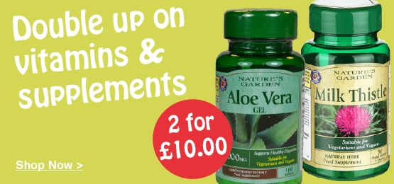 2 for £12 on selected Vitamins & Supplements