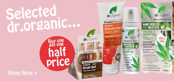 Buy one get one half price on selected dr. organic