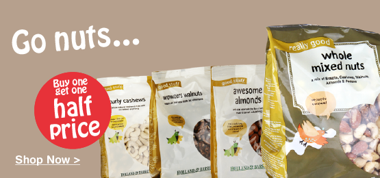 Buy one get one half price on selected Nuts & Food