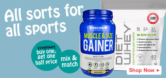 Buy one get one half price on all sports nutrition