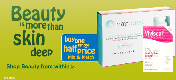 Buy one get one half price on selected beauty