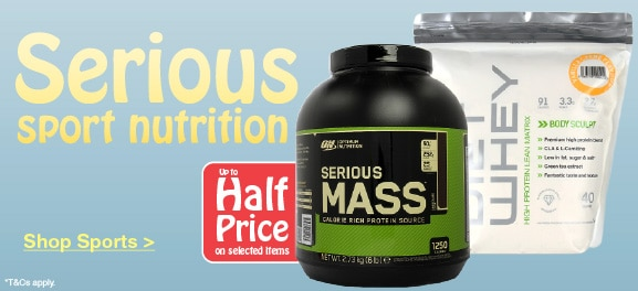 Half Price selected Sports Nutrition