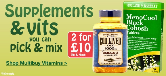 Multibuy offers on selected Vitamins and Supplements