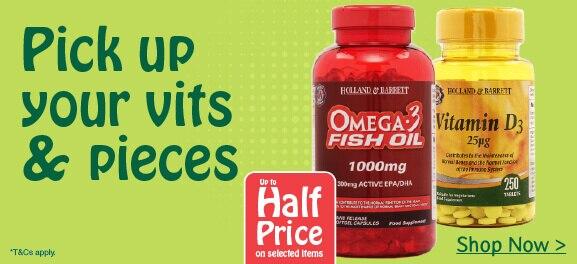 upto half price on vitamins