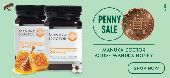 Buy One Get One for a Penny on Manuka Doctor