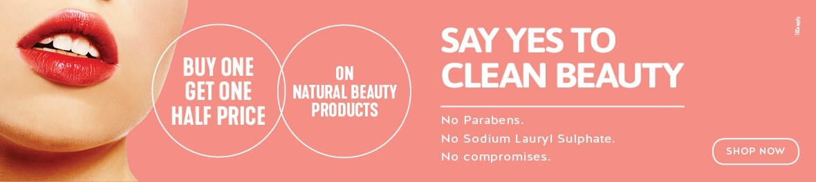 Buy One Get One Half Price on Natural Beauty